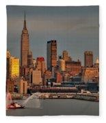 New York City Sundown On The 4th Fleece Blanket