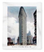 New York City - The Flatiron Building - Fifth Avenue - 1904 Fleece Blanket