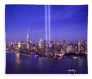 New York City Tribute In Lights World Trade Center Wtc Manhattan Nyc Fleece Blanket