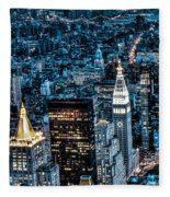 New York City Triptych Part 1 Fleece Blanket