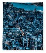 New York City Triptych Part 3 Fleece Blanket