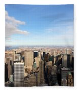 New York City View Fleece Blanket