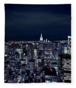 New York Evening Fleece Blanket