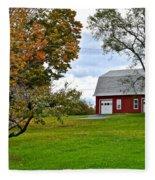 New York Farm Fleece Blanket