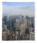 New York From Above Fleece Blanket