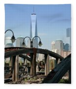 New York From New Jersey - Image 1633-01 Fleece Blanket