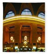 New York - Grand Central Station Fleece Blanket