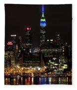 New York Honors Seattle Seahawks Fleece Blanket