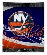 New York Islanders Christmas Fleece Blanket