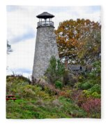 New York Lighthouse Fleece Blanket