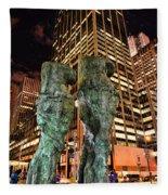 New York - Looking Toward The Avenue Fleece Blanket