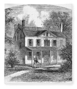 New York: Mansion, 1763 Fleece Blanket