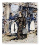 New York Milliner, 1889 Fleece Blanket