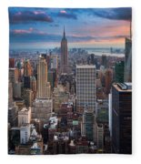 New York New York Fleece Blanket