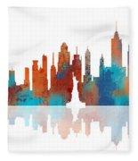 New York New York Skyline  Fleece Blanket