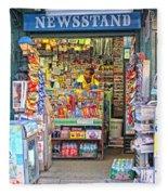 New York Newsstand Fleece Blanket