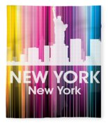 New York Ny 2 Fleece Blanket