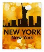 New York Ny 3 Fleece Blanket