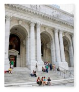New York Public Library Fleece Blanket