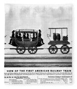 New York Railroad, 1832 Fleece Blanket