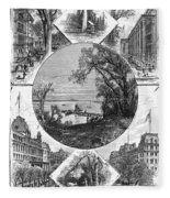 New York Saratoga, 1874 Fleece Blanket