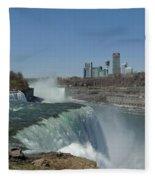 New York Side Of Niagara Falls Fleece Blanket