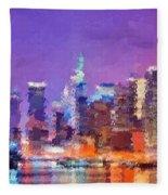 New York City - Skyline Fleece Blanket