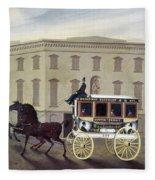 New York Stagecoach Fleece Blanket