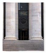 New York State Education Building Entrance Fleece Blanket