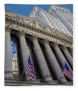 New York Stock Exchange Wall Street Nyse  Fleece Blanket
