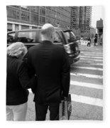 New York Street Photography 13 Fleece Blanket