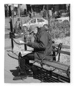 New York Street Photography 2 Fleece Blanket