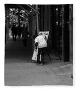 New York Street Photography 26 Fleece Blanket