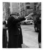New York Street Photography 27 Fleece Blanket