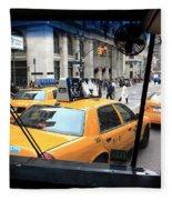 New York Taxi Cabs Fleece Blanket
