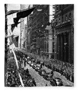 New York Ticker Tape Parade Fleece Blanket