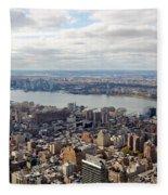 New York View Towards Jersey Fleece Blanket