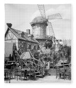 New York Windmill, C1905 Fleece Blanket