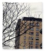 New York Winter Day Fleece Blanket
