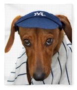 New York Yankee Hotdog Fleece Blanket