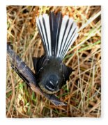 New Zealand Fantail Fleece Blanket