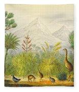 New Zealand Kiwi, Takahe, Extinct Moa Fleece Blanket