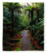 New Zealand Rainforest Fleece Blanket