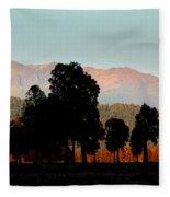 New Zealand Silhouette Fleece Blanket