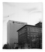 Newark  New Jersey In Black And White Fleece Blanket