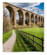 Newbridge Rail Viaduct Fleece Blanket