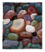 Newfoundland Beach Rocks 2  Fleece Blanket