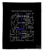 Newfoundland Labrador Canada Crosswords Fleece Blanket