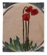 Newfoundland Pitcher Plant - Porthole Vignette Fleece Blanket