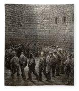Newgate Prison Exercise Yard Fleece Blanket